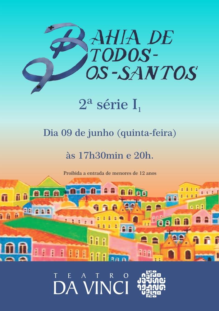 Cartaz Entrada do Teatro - Bahia de todos os Santos - Para Katiane