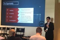 26/7 - apresentações dos alunos na EA Games. Cada grupo pensou em um jogo inovador para a EA e fez uma apresentação completa do produto, contemplando análise de mercado, protótipo de produto, estratégias de marketing e análise financeira de fluxo de caixa. Alunos do Da Vinci estavam nos 3 grupos vencedores do desafio.